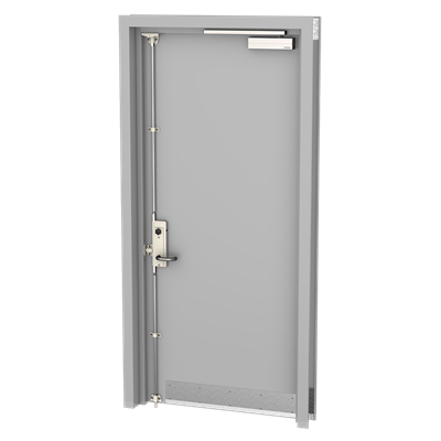 Accoustic Door_Camera_SOLIDWORKS Viewport grey steel doors.png