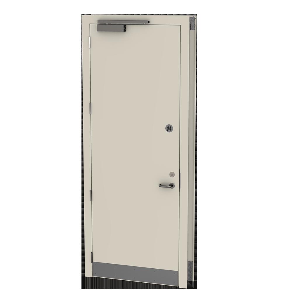 Hygienic Doors | Steel doors for commercial washrooms, clean